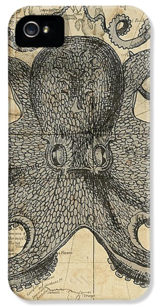 Octopus Sea Chart IPhone 5 Case
