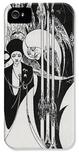 Of A Neophyte And How The Black Art Was Revealed Unto Him IPhone 5 Case by Aubrey Beardsley