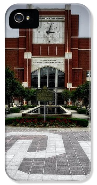 Oklahoma Memorial Stadium IPhone 5 Case by Center For Teaching Excellence