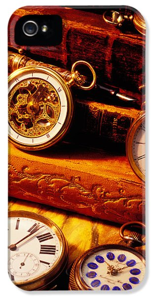 Old Books And Pocket Watches IPhone 5 Case