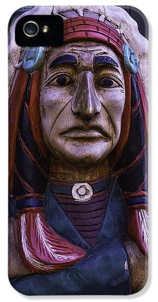 Old Cigar Store Indian IPhone 5 Case by Garry Gay