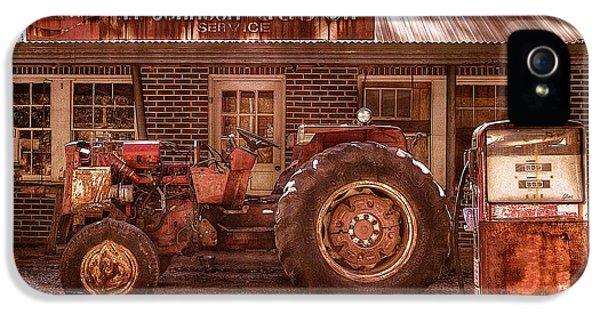 Oliver Tractor iPhone 5 Case - Old Days Vintage by Debra and Dave Vanderlaan