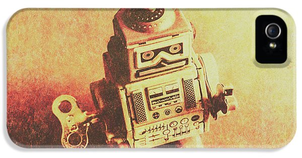 Old Electric Robot IPhone 5 Case by Jorgo Photography - Wall Art Gallery