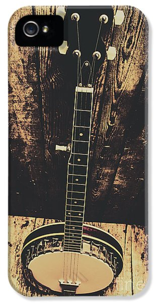 Old Folk Music Banjo IPhone 5 Case by Jorgo Photography - Wall Art Gallery