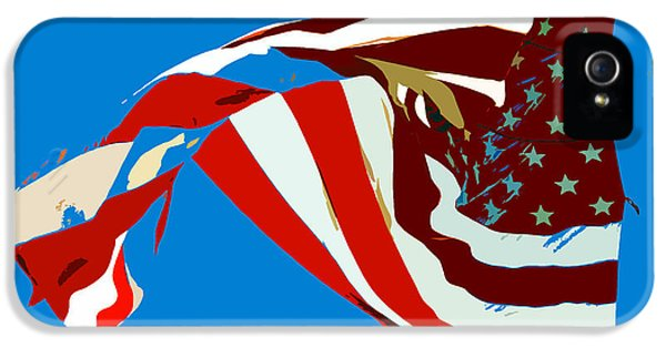 Old Glory Flying IPhone 5 Case by David Lee Thompson