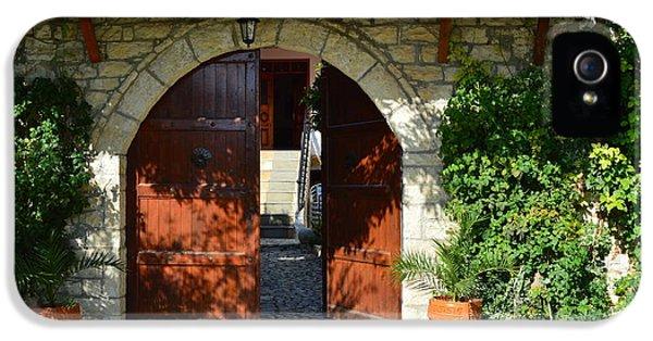 iPhone 5 Case - Old House Door by Nuri Osmani