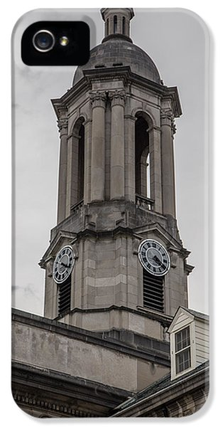 Old Main Penn State Clock  IPhone 5 Case by John McGraw