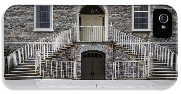 Old Main Penn State Stairs  IPhone 5 Case by John McGraw