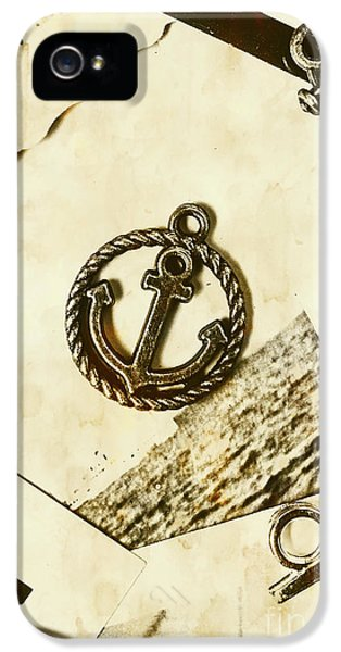 Old Shipping Emblem IPhone 5 Case by Jorgo Photography - Wall Art Gallery