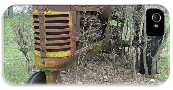 Oliver Tractor iPhone 5 Case - Old Tractor by Austin Clarke