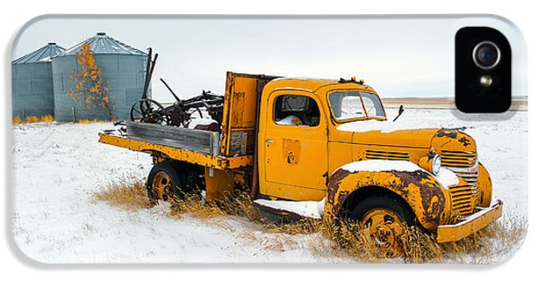 Truck iPhone 5 Case - Old Yellow by Todd Klassy
