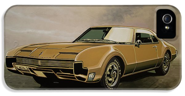 Falcon iPhone 5 Case - Oldsmobile Toronado 1965 Painting by Paul Meijering