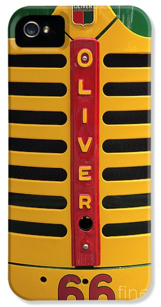 Oliver Tractor iPhone 5 Case - Oliver 66 Tractor by Mike Eingle