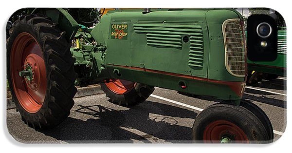 Oliver Tractor iPhone 5 Case - Oliver Row Crop 70 by Mike Eingle