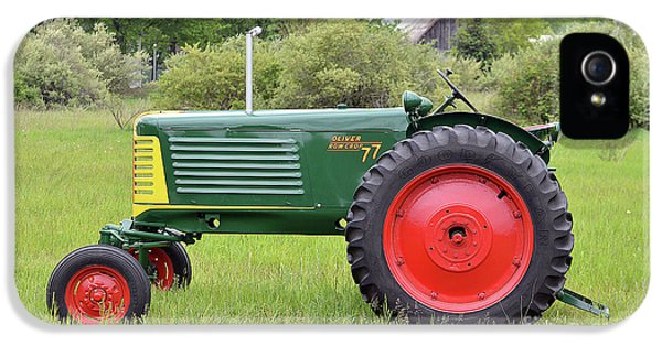 Oliver Tractor iPhone 5 Case - Oliver Row Crop Tractor by Steven Covieo