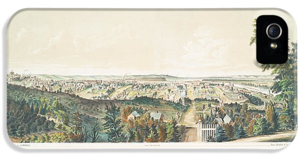 Nebraska iPhone 5 Case - Omaha, Nebraska Looking North From Forest Hill 1867 by Ricky Barnard