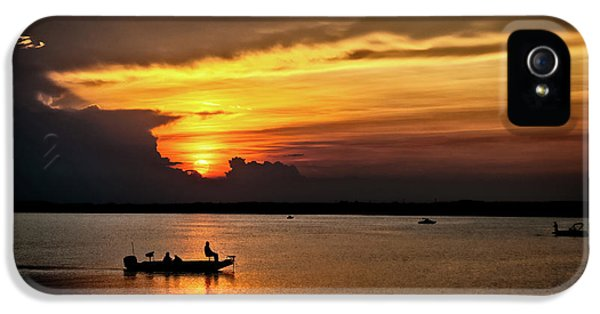 On The Lake At Sunset IPhone 5 Case by Christopher Holmes