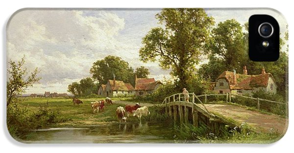 On The Thames Near Marlow IPhone 5 Case by Henry Parker