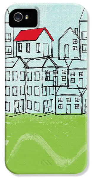 One Red Roof IPhone 5 Case by Linda Woods