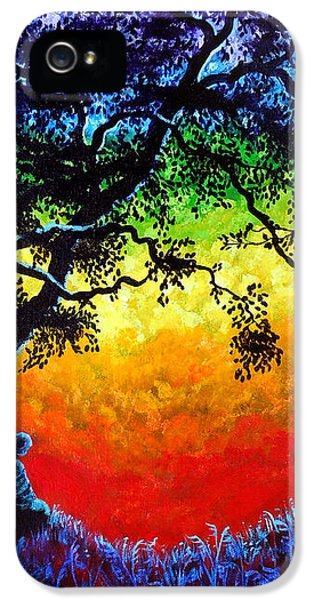 Opening The Chakras Meditation IPhone 5 / 5s Case by Laura Iverson
