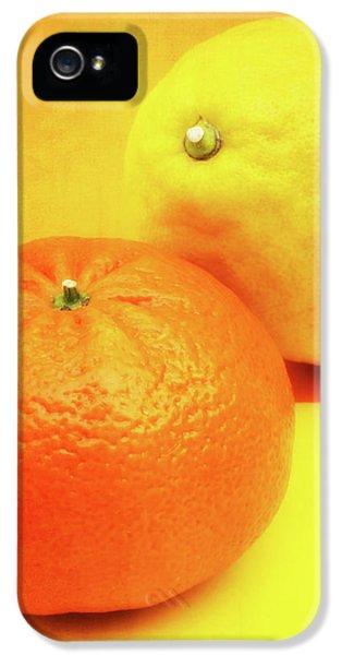 Grapefruit iPhone 5 Case - Orange And Lemon by Wim Lanclus