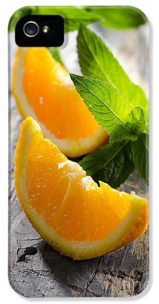 Orange And Mint IPhone 5 Case by Jelena Jovanovic