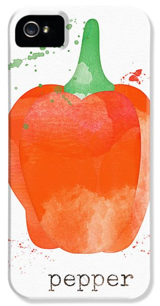 Rural Scenes iPhone 5 Case - Orange Bell Pepper  by Linda Woods