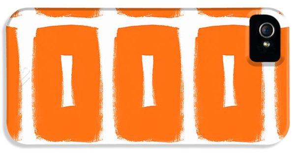Orange Boxes- Art By Linda Woods IPhone 5 Case by Linda Woods