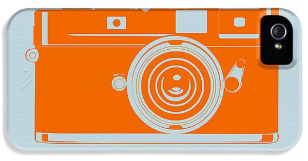 Mid iPhone 5 Cases - Orange camera iPhone 5 Case by Naxart Studio