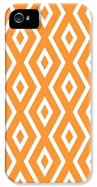 Orange Pattern IPhone 5 Case by Christina Rollo