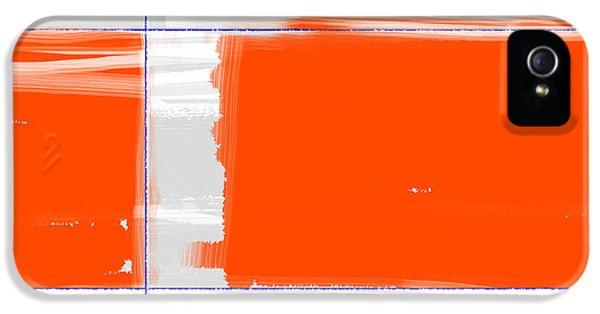 Orange Rectangle IPhone 5 Case by Naxart Studio