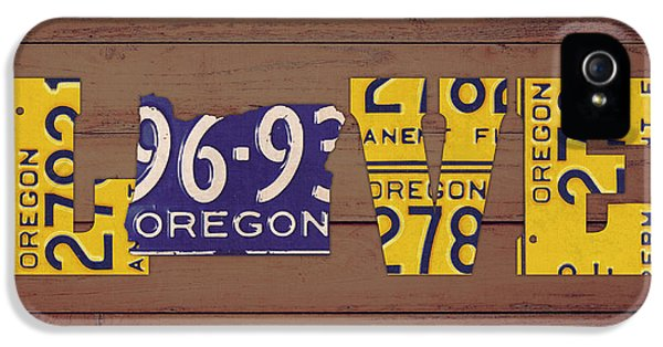 Oregon State iPhone 5 Case - Oregon State Love Heart License Plates Art Phrase by Design Turnpike
