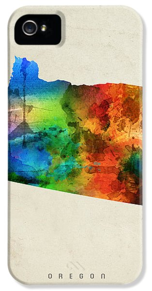 Oregon State Map 03 IPhone 5 / 5s Case by Aged Pixel