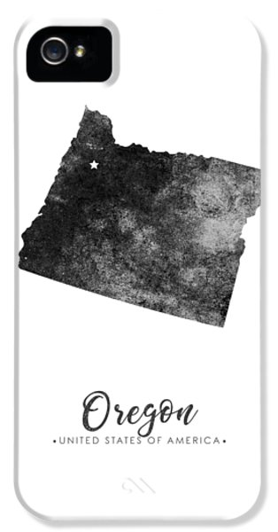 Oregon State iPhone 5 Case - Oregon State Map Art - Grunge Silhouette by Studio Grafiikka