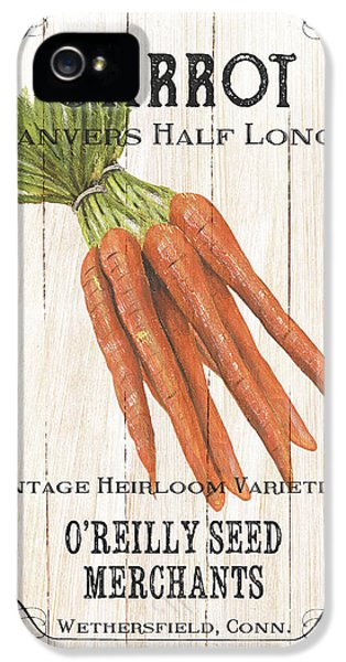 Carrot iPhone 5 Case - Organic Seed Packet 2 by Debbie DeWitt