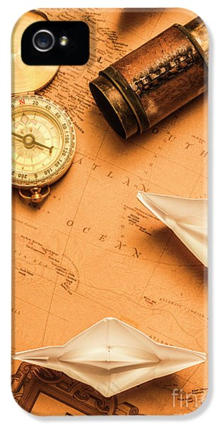Origami Paper Boats On A Voyage Of Exploration IPhone 5 Case