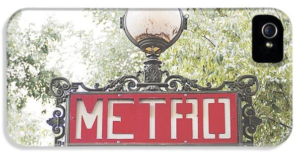 Paris iPhone 5 Case - Ornate Paris Metro Sign by Ivy Ho