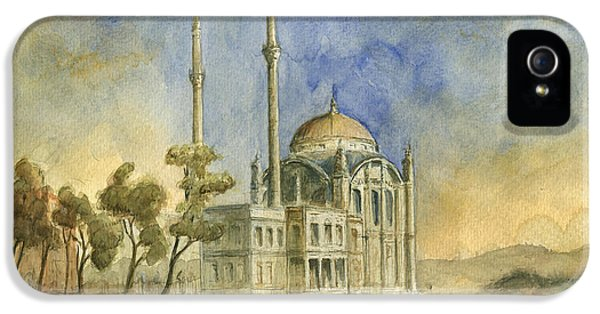 Turkey iPhone 5 Case - Ortakoy Mosque Istanbul by Juan Bosco
