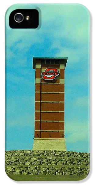 Oklahoma State University Gateway To Osu Tulsa Campus IPhone 5 Case by Janette Boyd