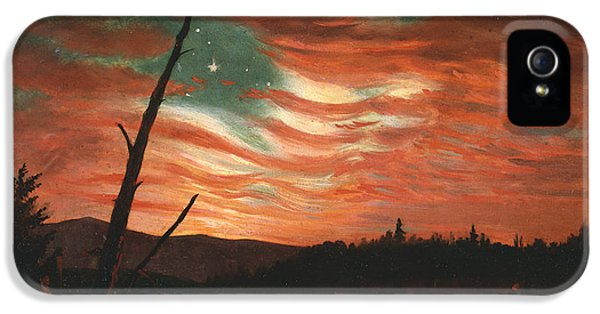 Our Banner In The Sky IPhone 5 Case by Frederic Edwin Church