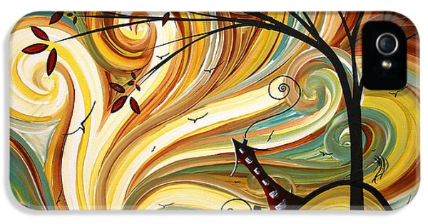 Out West Original Madart Painting IPhone 5 Case by Megan Duncanson