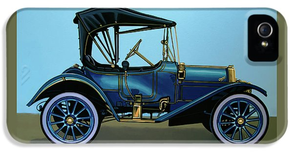 Overland 1911 Painting IPhone 5 Case by Paul Meijering