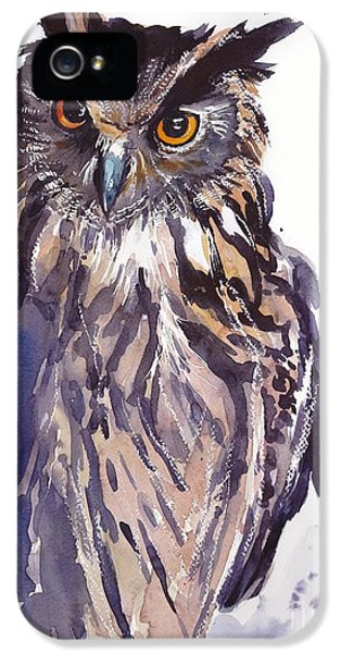 Falcon iPhone 5 Case - Owl Watercolor by Suzann's Art