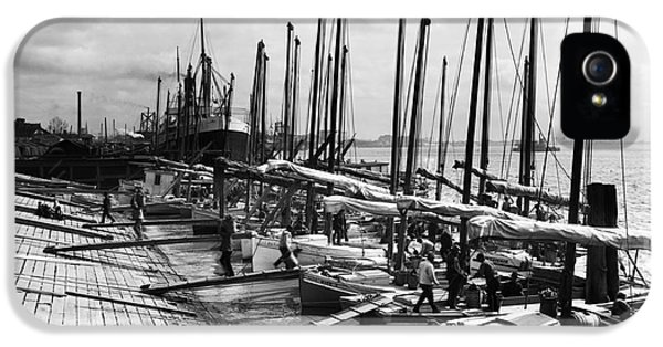 Oyster Luggers, New Orleans Ca 1910 IPhone 5 Case by Jon Neidert