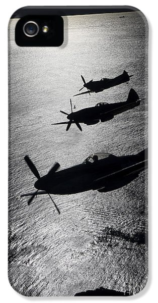P-51 Cavalier Mustang With Supermarine IPhone 5 Case