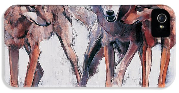 Wolves iPhone 5 Case - Pack Leaders by Mark Adlington
