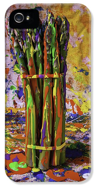 Painted Asparagus IPhone 5 Case by Garry Gay