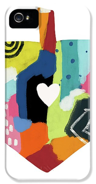 Painted Dreidel With Heart- Art By Linda Woods IPhone 5 Case