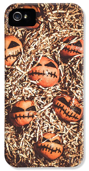 painted tangerines for Halloween IPhone 5 Case by Jorgo Photography - Wall Art Gallery