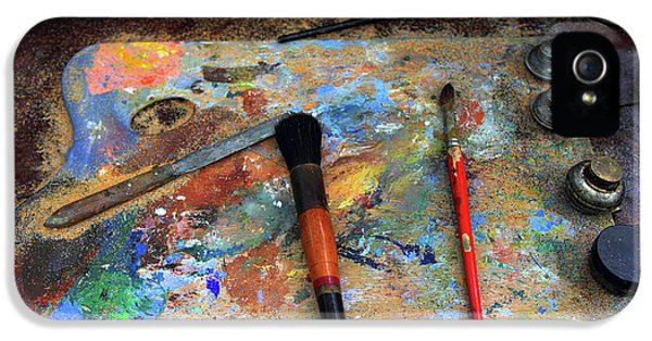 IPhone 5 Case featuring the photograph Painter's Palette by Jessica Jenney